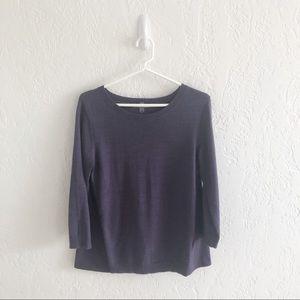 Smartwool Purple Wool Blend Sweater Back Inset